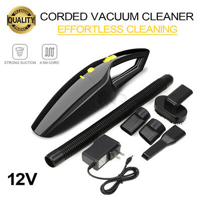 Car Vacuum Cleaner 12V For Auto Portable Handheld Wet Dry Dust Dirt Duster Clean