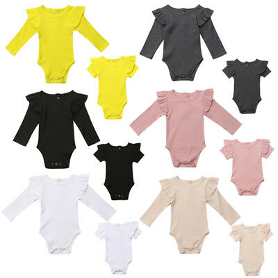 Newborn Kids Baby Girls Top Romper Jumpsuit Playsuit Outfits Clothes