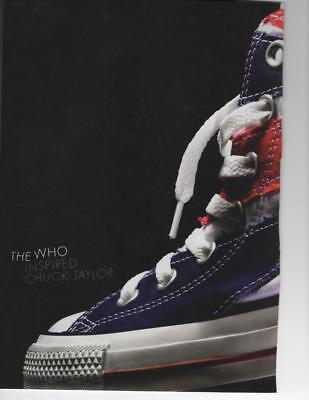 size 40 497f4 941d8 CONVERSE ALL STARS SHOES 2 PAGE PRINT AD The Who ART DESIGN ON SHOES FRAME  IT