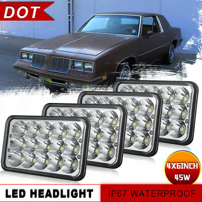 "4pcs 4x6"" LED Headlight Hi/Lo Sealed For Kenworth T800 T400 T600 W900L Car Truck"