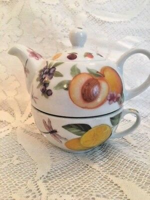 """Cardew Designs- """"Welcome"""" Hospital-i-tea T-Guy  fruit 16oz pot with cup *NEW*"""