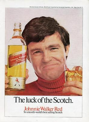 Johnnie Walker Red Label Whisky Print Ad - Luck Of The Scotch - Ford Capri Coupe