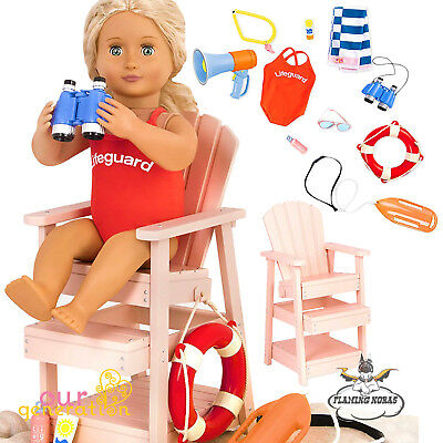 NEW LIFEGUARD PLAYSET for OUR GENERATION AMERICAN GIRL Doll Accessory - UK