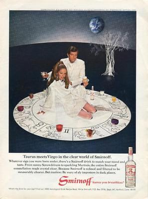 1969 Smirnoff Vodka Print Ad Astrological Signs Taurus Meets Virgo Art Frame It!