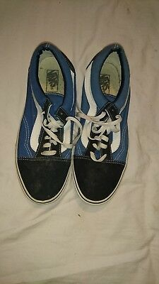 Mens Vans Old Skool Navy Skate Fashion Classic Retro Trainers Shoes Sz Size  10 ea4aa86f0