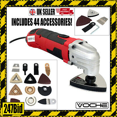 Voche® 300W Multi Function Oscillating Power Tool Sander + 44Pc Accessories Set