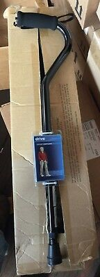 (6) New Drive Medical Aluminum Offset Grip Cane - Adjustable Height