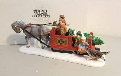 Dept 56 New England Village 1994 OVER THE RIVER AND THROUGH THE WOODS #56545