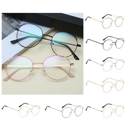 Oversized Classic Retro Clear Lens Eye Glasses Metal Frame for Men & Women