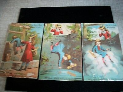 Acme Soap - Series of  Three Trade Cards c.1880's