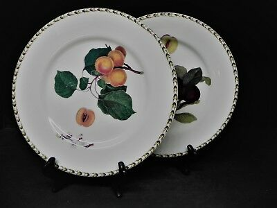 Queens Fine China Hookers Fruit  Dinner Plates set of 2