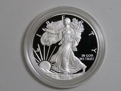 2018-W American Silver Eagle - 1 oz ASE - Proof - Coin & Capsule