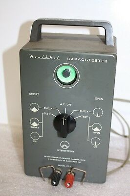 Vintage Heathkit Capacitor Tester CT-1 With a Bright Eye Looks Like it Works