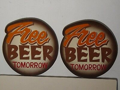 "Hooters ""Free Beer Tomorrow ""signs (2)"