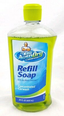 Mr Clean 20oz Auto Dry Car Wash Refill Soap Full Size Concentrate Green
