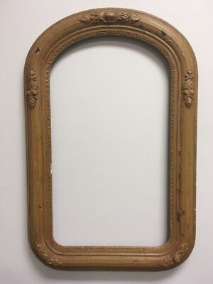 "VTG. Aesthetic Eastlake Victorian Wood Ornate Picture Frame Fits 14""x 24"""