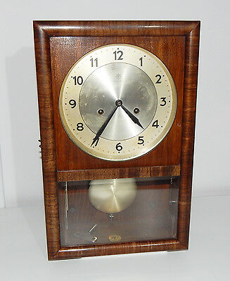 Original Clock JUNGHANS German Wall Clock Art Deco Vintage
