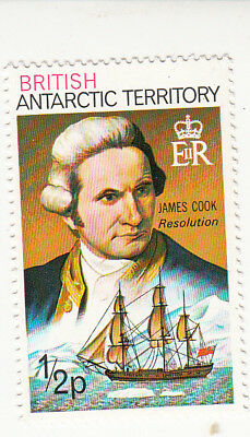 British Antarctic Territory  James Cook and H.M.S. 'Resolution'  1/2 p ships