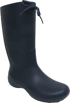 58d4652226bb9b Crocs Freesail Rain Boot Women s Navy Waterproof Pull On Wellington Boots  New