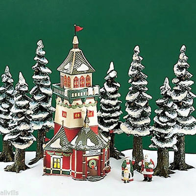Santas Lookout Tower Dept 56 North Pole Village 56294 Christmas Snow house NEW A