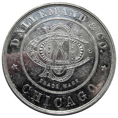 (1890s) Token - Dallemand & Co, Chicago Illinois, Whiskey Advertising Medal