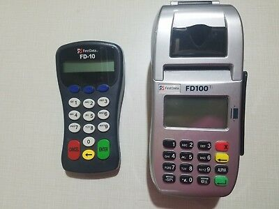 First Data FD100 Credit Card Machine and FD10 Pin Pad NO POWER SUPPLY