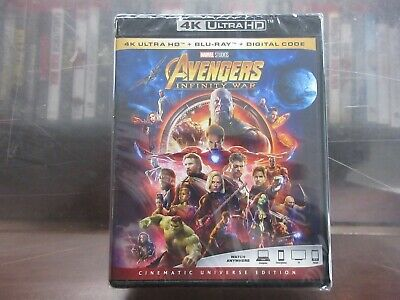 BRAND NEW AVENGERS INFINITY WAR (4K Ultra HD + Blu-Ray + Digital Code)