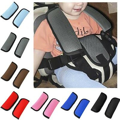 Car and Pram Safety Seat Belt Strap Shoulder Cover Harness Pad Pads Kids Baby
