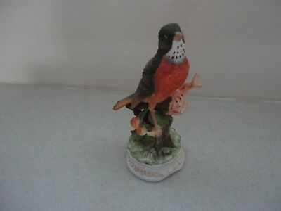 Towle Fine Bone China Musical Robin Bird Plays Oh What A Beautiful Morning Music