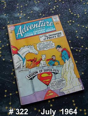 ADVENTURE COMICS #322   Silver Age  July 1964 DC Comics Superboy / Legion Heroes