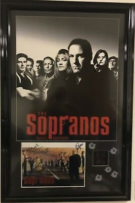 The Sopranos Signed TV Picture of Cast -- Framed