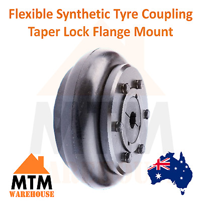 Flexible Tyre Coupling - Taper Lock Flange Mount Flex Tire Industrial