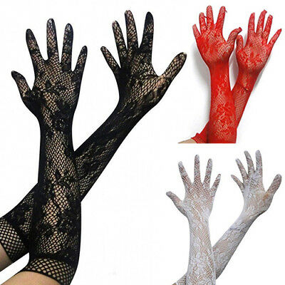 Women Stretch Lace Opera Elbow Long Length Evening Party Prom Gloves Novelty