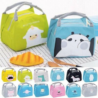 Cartoon Cute Lunch Bag For Women Girl Kids Children Thermal Insulated Lunch Bag