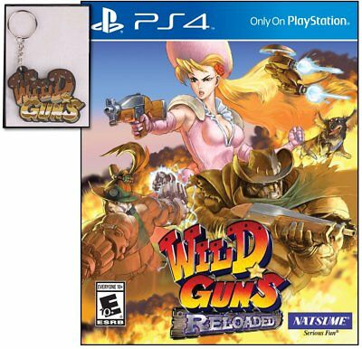 Wild Guns: Reloaded w/ Limited Edition Keychain (PlayStation 4) BRAND NEW ps4