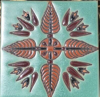Hand-Painted Art Deco Egyptian Revival Craftsman Tiles Available in 6x6 & 5x5