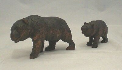 Pair Of Black Forest Strolling Bears (ref BF1)
