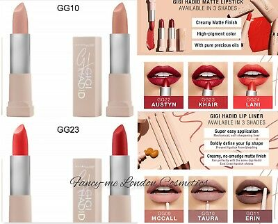 MAYBELLINE NEW YORK Gigi Hadid East and West Coast Glow Matte Lipstick 3.9g