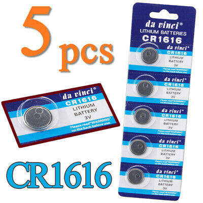 5pcs CR1616 ECR1616 CR 1616 3V Button Cell Coin Batteries for Watch PC