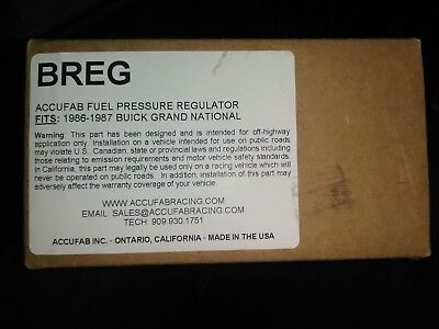 Accufab BREG Adjustable Fuel Pressure Regulator FPR AFPR Benzindruckregler