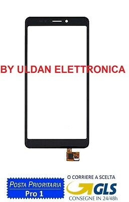 Touch Screen Vetro Per Wiko Jerry 3 Digitizer Vetrino Nero 5.45''