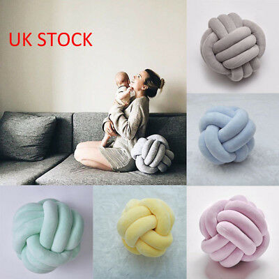 Handmade Knot Cushion Soft Knotted Ball Pillow Throw Home Decoration XMAS Gift