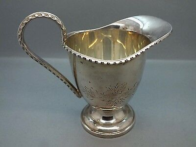 Good Quality Ornate Silver Plated Creamer in the Regency Style c1950