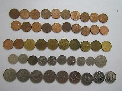 Lot of 49 Different Barbados Coins - 1973 to 2008 - Circulated & BU