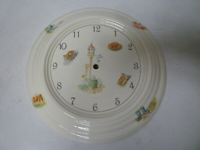 Aynsley Edwardian Kitchen Garden Fine Bone China Wall Cottage Clock Rare - New