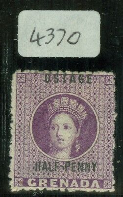 SG 21c Grenada 1881. ½d deep mauve with variety 'ostage'. Fine mounted mint. BPA