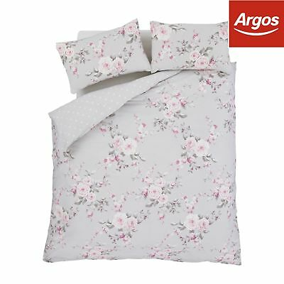 Catherine Lansfield Canterbury Floral Polycotton Bedding Set - Double