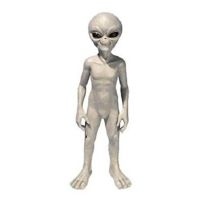 """Ufo Extra Terrestrial 23.5""""H Gray Alien Statue Outer Space Mystery Sculpture"""