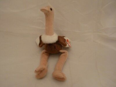 1997 Ty Original Beanie Babies STRETCH The Ostrich w/Tags  (11 inch)