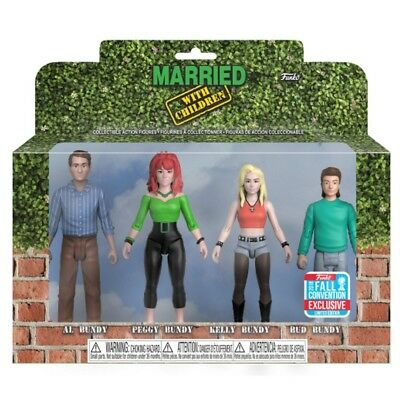 Funko NYCC 2018 Married with Children Bundy Action Figures 4-PK OFFICIAL STICKER